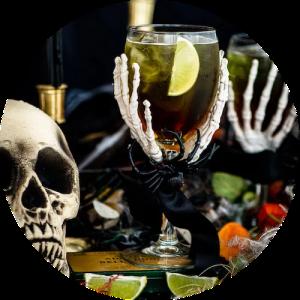 Halloween drink Green Widow opskrift