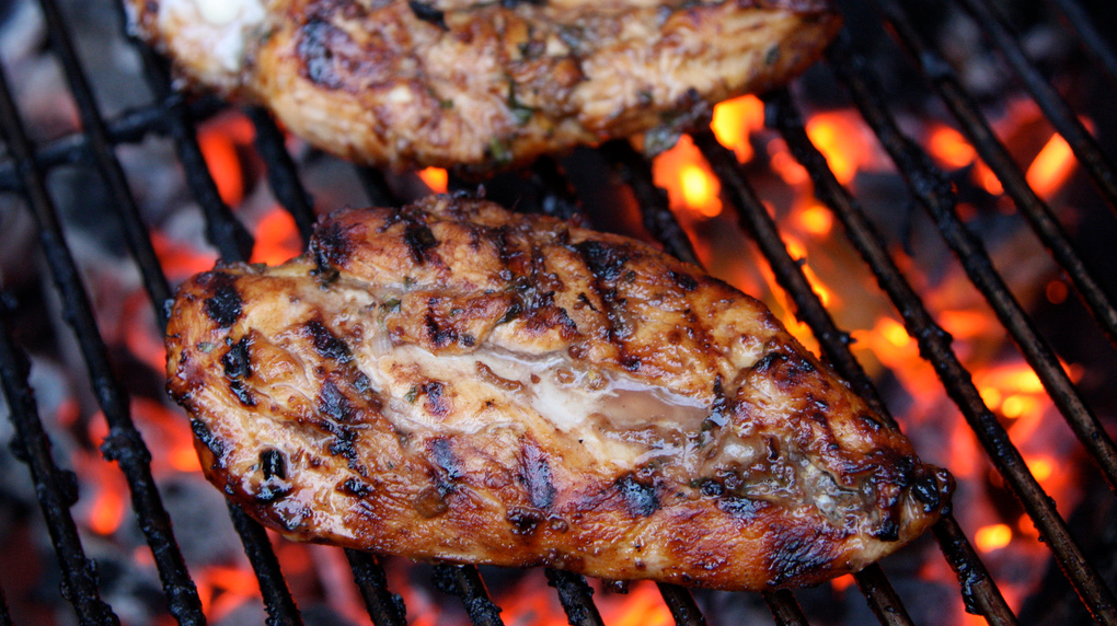 Grilled Greek Chicken Breasts