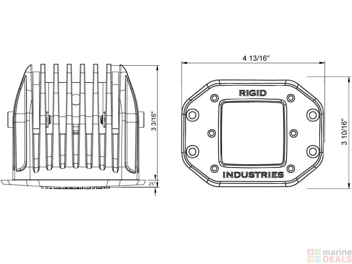 Buy Rigid Marine D2 Wide Flush Mount Led Light