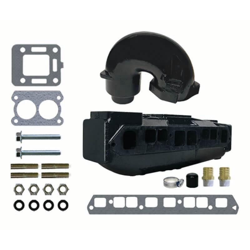 jml 58214 mercruiser complete exhaust manifold set oem 860235a03 12076a2