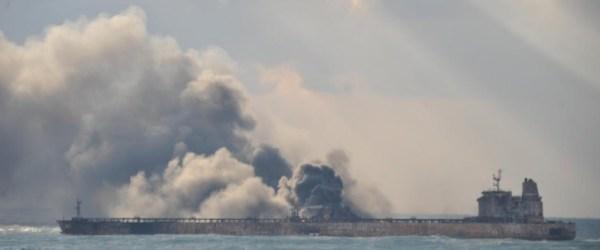 UPDATES: The burning Sanchi Drifts into Japanese exclusive economic zone