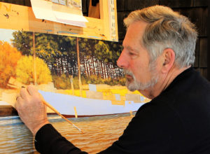 contact marine artist Steve Rogers at his studio in Lewes, Delaware