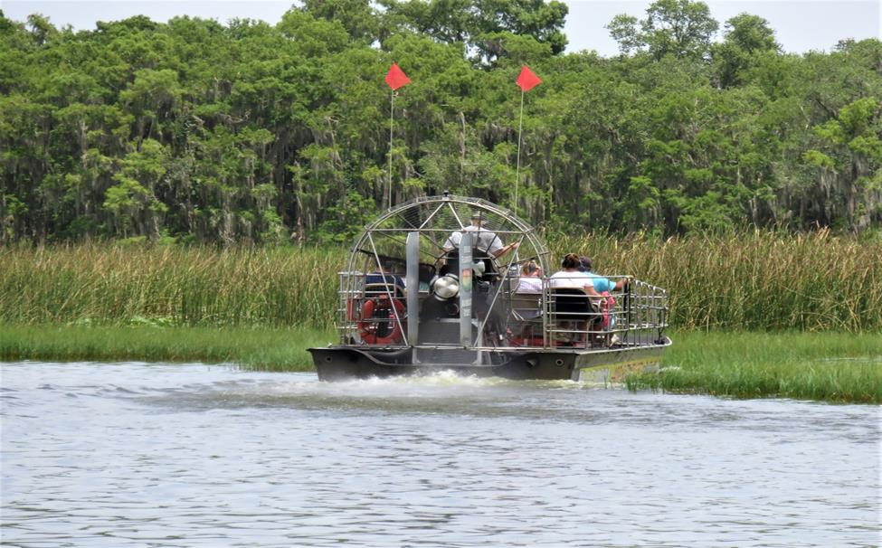 This year's tour included an airboat ride through the Everglades