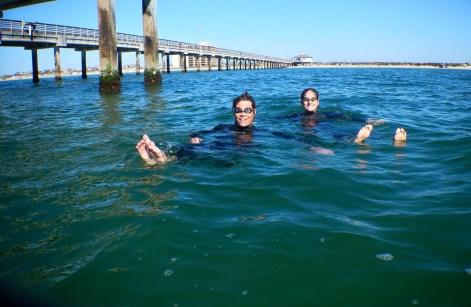 rounding the pier