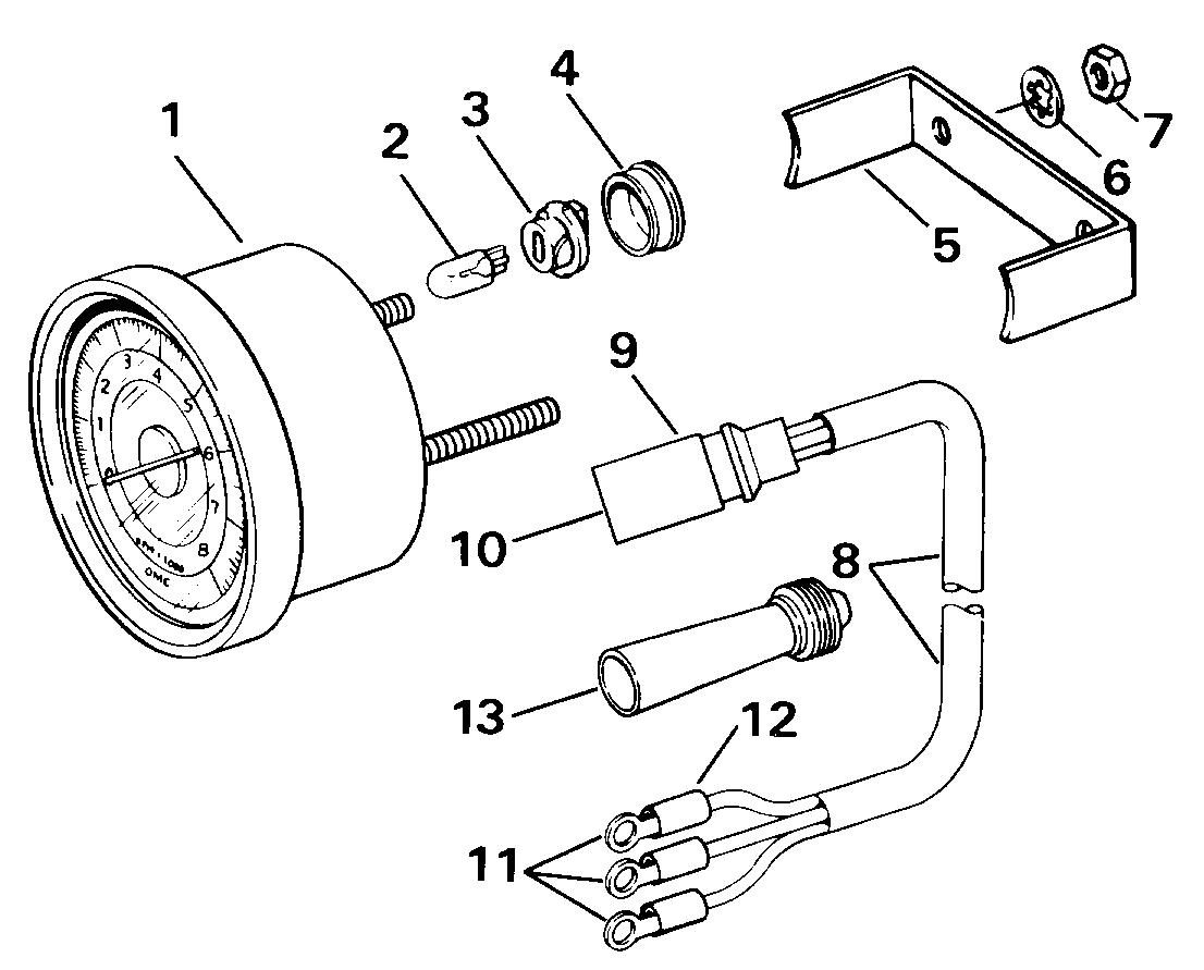 [WRG-5624] Suzuki Outboard Tachometer Wiring Diagram