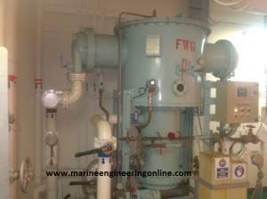 Fresh Water Generator or Evaporator used on Ships