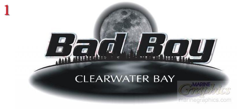 Bad Boy boat graphics