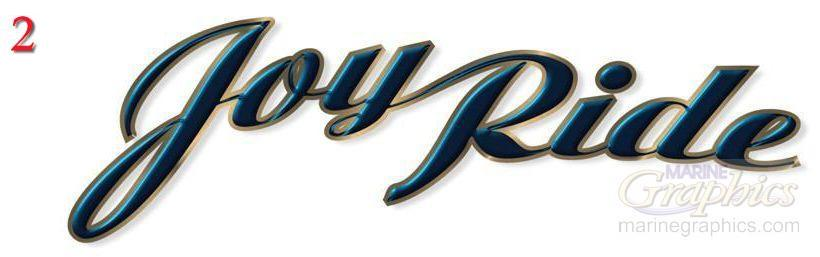Joy Ride Custom Boat Lettering