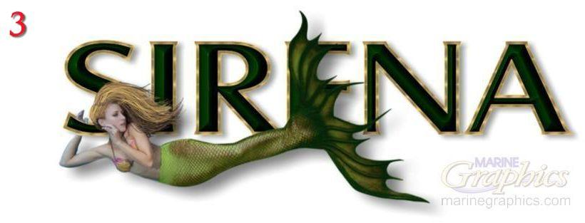Sirena boat graphics
