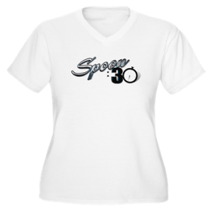 Womens Plus Size Vneck Crew Shirt with boat lettering