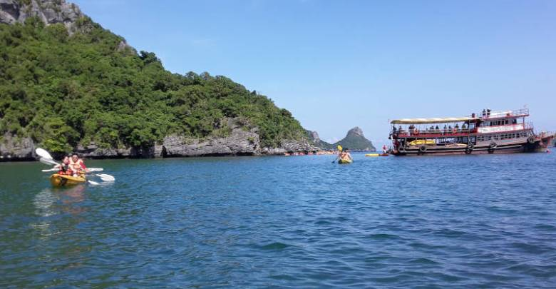 Kayaking in the Gulf of Thailand