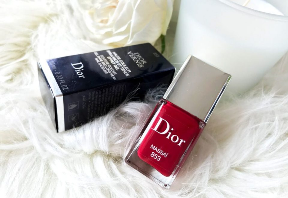 Vernis rouge massaï de Dior