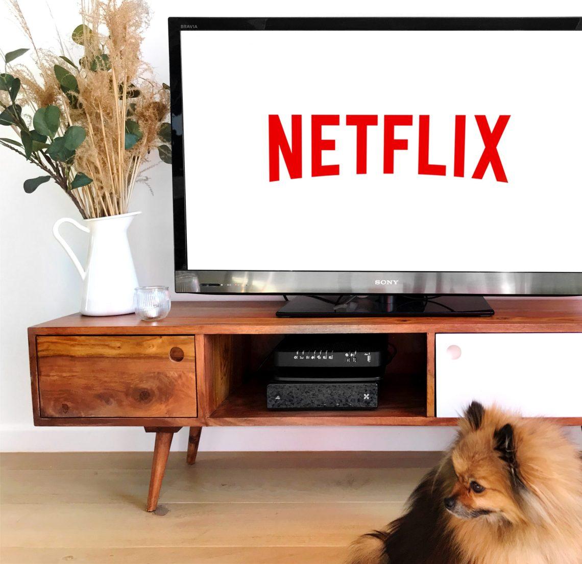 Netflix sur écran de télévision