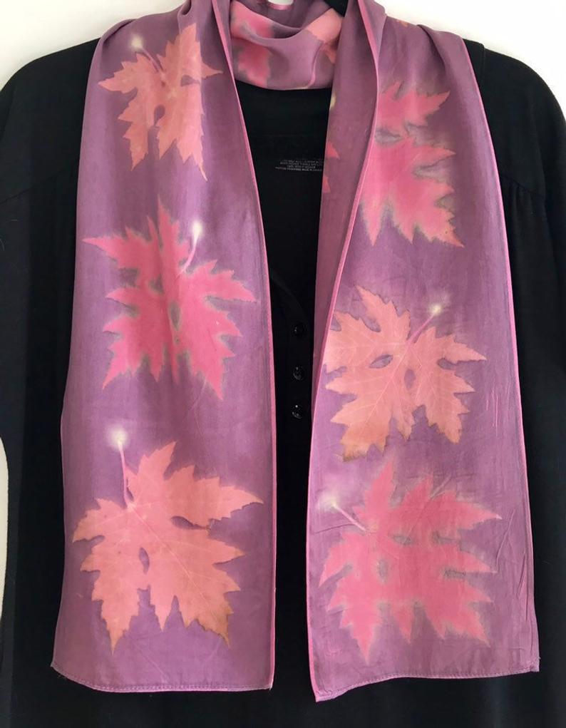 ecoprint scarf
