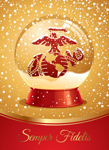 Christmas Cards RedGold Variety EGA Pkg Of 12