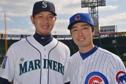 Iwakuma and Wada playing for MLB in their home country Ben Platt/MLB.com