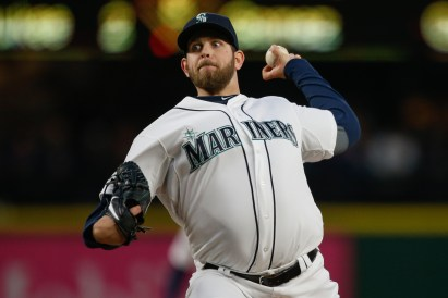 SEATTLE, WA - APRIL 07: Starting pitcher James Paxton #65 of the Seattle Mariners pitches in the third inning against the Los Angeles Angels of Anaheim at Safeco Field on April 7, 2015 in Seattle, Washington. (Photo by Otto Greule Jr/Getty Images)