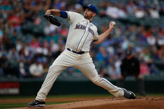 SEATTLE, WA - SEPTEMBER 13: Starting pitcher James Paxton #65 of the Seattle Mariners pitches against the Colorado Rockies in the first inning at Safeco Field on September 13, 2015 in Seattle, Washington. (Photo by Otto Greule Jr/Getty Images)