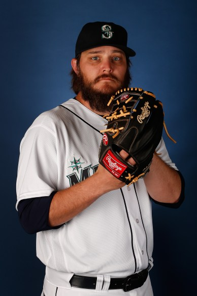of the Seattle Mariners poses for a portrait during spring training photo day at Peoria Stadium on February 27, 2016 in Peoria, Arizona.
