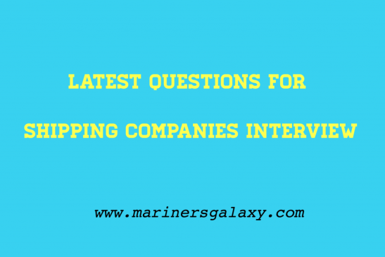 interview questions for shipping companies