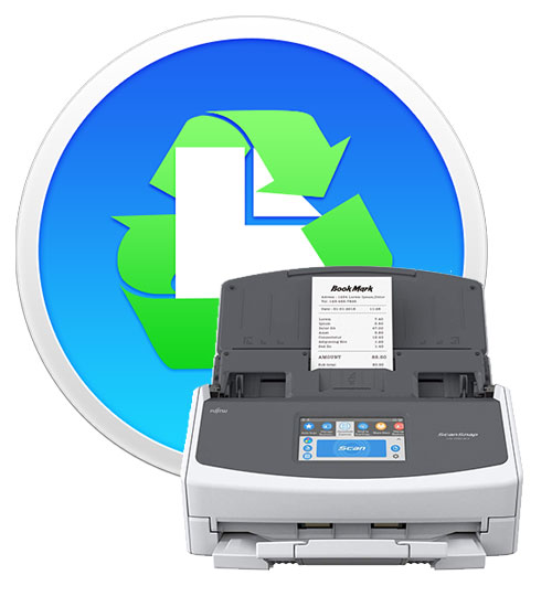 Paperless softare and ScanSnap iX1500 scanner.