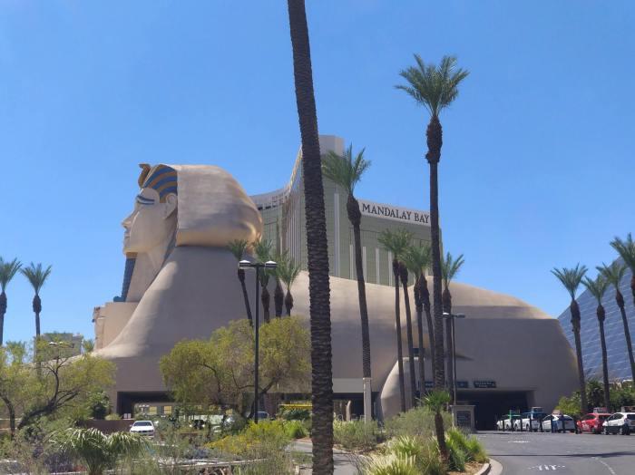 Le sphinx de l'hôtel Louxor