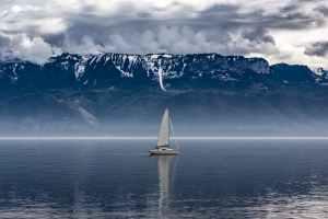 Sail Boat Winter