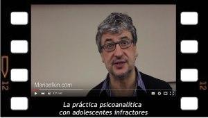Daniel Aksman La práctica psicoanalítica con adolescentes infractores
