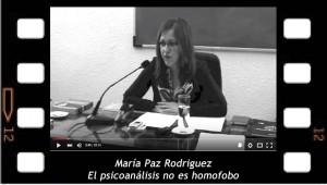 El psicoanálisis no es homofobo. María Paz Rodriguez