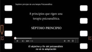 Séptimo principio del acto analítico. Ni su fin ni su objetivo es la adaptación