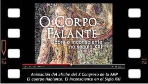 Animación del afiche del X Congreso de la AMP, El cuerpo hablante, sobre el inconsciente en el siglo XXI