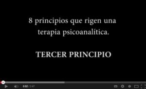 Tercer principio del acto analítico. El manejo de la transferencia