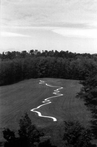 Rive Po Line, Richard Long 2001