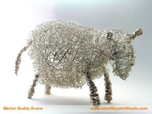 Wirework Sheep by Marion Boddy-Evans