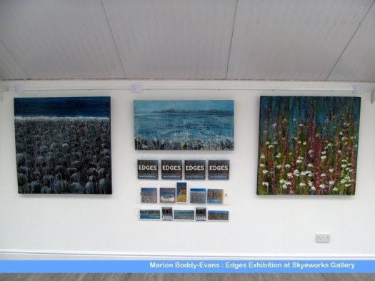 Edges Exhibition by Skye artist Marion Boddy-Evans at Skyeworks in Portree