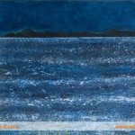 Edges: Moon over the Minch Painting by Skye artist Marion Boddy-Evans