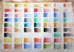 Colour Chart Watercolour