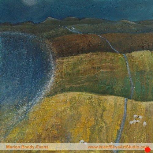 Isle of Skye road painting