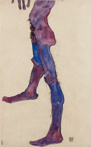 Courtauld Egon Schiele Male Lower Torso painting