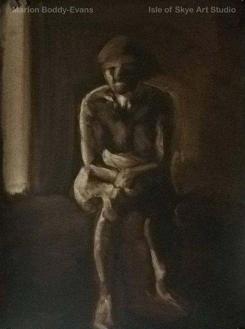 Monochrome Figure Painting