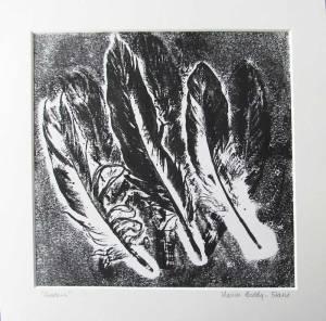 Feather Monoprint: Shadows