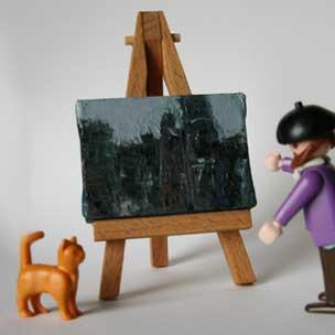 Monsieur P and Studio Cat