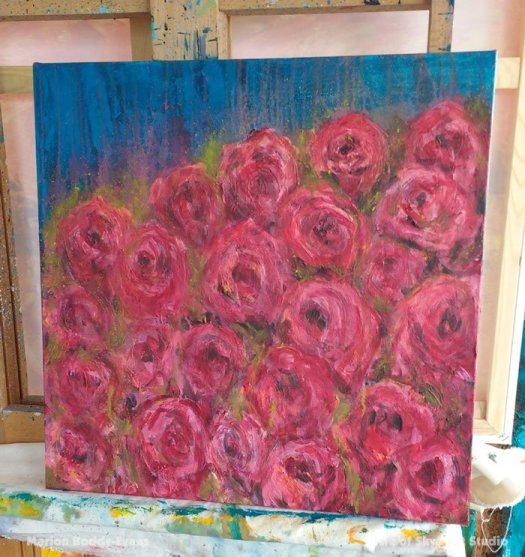 Rose Painting-in-Progress