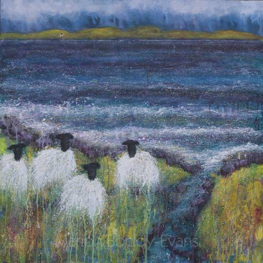 Sheep Painting: After You by Marion Boddy-Evans