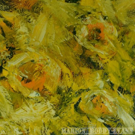 Daffodil painting detail by Marion Boddy-Evans