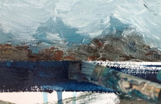 Minch Seascape painting horizon