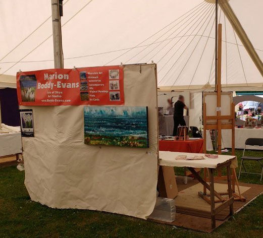 Back of my Stand at Patchings Art Festival 2016
