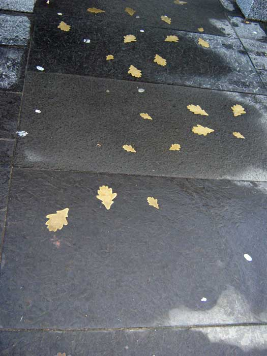 Inset leaves Inverness pavement