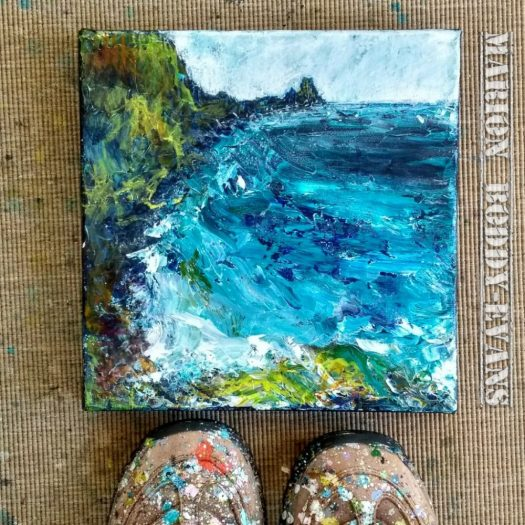 Impasto seascape painting by Marion Boddy-Evans