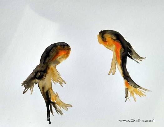 Unsuccessful Gold Fish Painting on paper